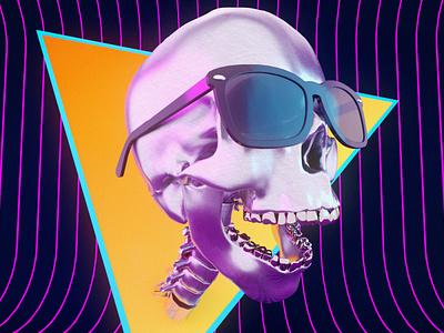 skull glasses arnoldrender glasses skull art skull maxon c4dart render 3d cinema4d digital art c4d