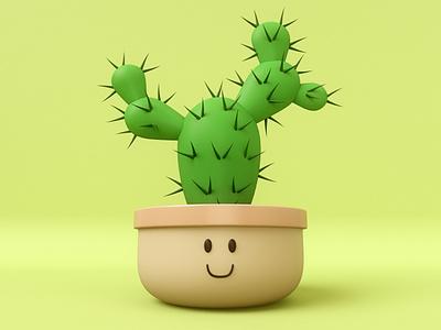 Cactus render maxon illustration design c4dart cinema4d 3d digital art c4d
