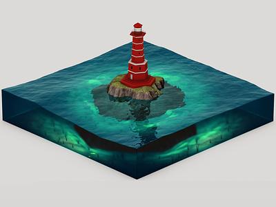 Farol maxon physical render render c4dart illustration cinema4d digital art 3d c4d