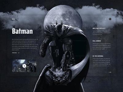Batman - Superhero series web design bruce wayne series dc inspiration character dark knight ui fantasy superhero batman