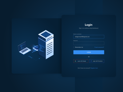 Login Page - Cryptocurrency Dashboard