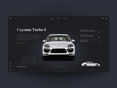 Porsche Cayenne - UI Concept auto design concept inspiration web ux designer ui web deisgn dark porsche cayenne car