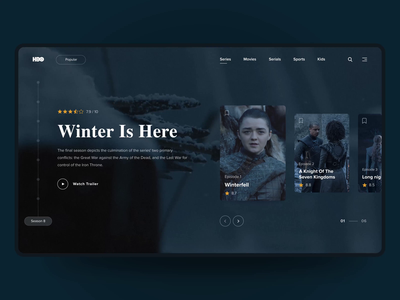 HBO - Series Page Redesign