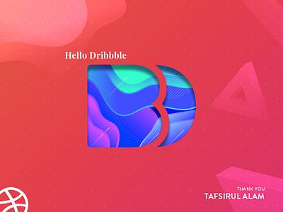 Debut Shot Dribbble dot triangle 3d logo gradient brand debutshot first design dribbble debut