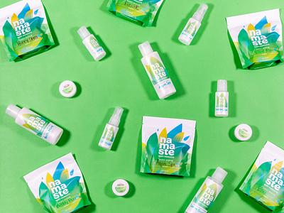 Namaste Packaging baseline creative leaf plant body scrub body products spa packaging