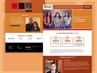 Web Design for KHEDF nonprofit grid blocks cubes scholarships web design