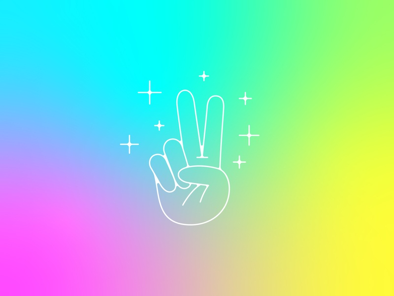Peace bye felicia product icons gradient mesh gradient chill peace illustration icon