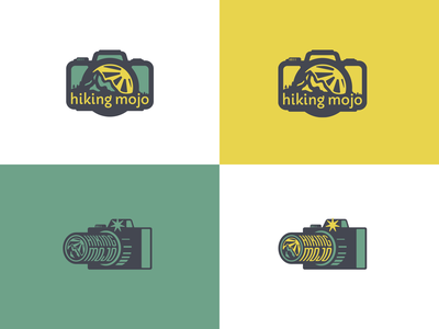 Hiking Mojo colorado camera exercise mountain hike nature logo