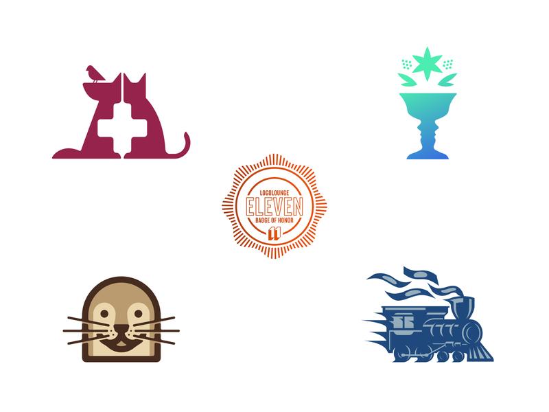 LL 11 growth vase otter money train animal logo book baseline creative logolounge logo
