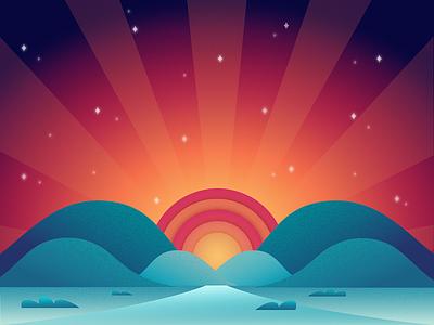 Recovery Month rehabilitation drug rehab recovery sunrise hope illustration baseline creative