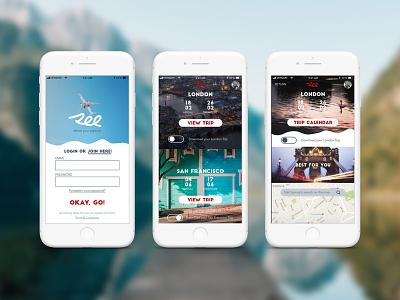 iPhone 7 Travel App funky bold ui ux travel travel app iphone 7