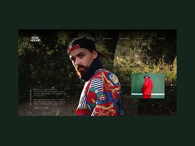 Your Holmie - Homepage photography menu bar homepage website design minimal