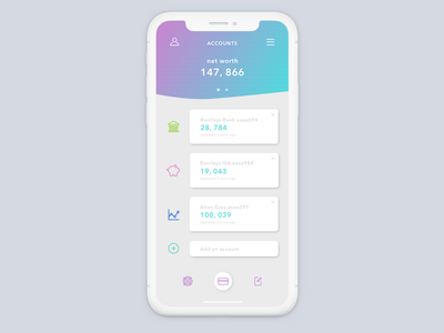 22seven Redesign daily challange app gradients minimal business budgeting app finance app