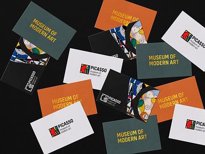 Picasso museum of modern art design art vector simple simple design logodesign logo graphic  design design branding design branding