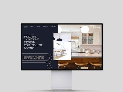 Interior web design concept graphic  design elegant simple design website design uidesign webdesign typography ux ui design branding design branding