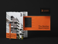 The Bentley Apartments brand brand identity typography simple design logodesign logo graphic  design design branding design branding