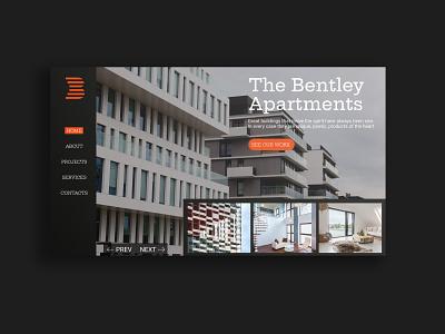 The Bentley Apartmens ( concept web design layout ) design art design simple design graphic  design simple typography ux ui branding design branding