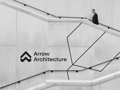 Arrow Architecture elegant design art simple logo simple design typography graphic  design design branding design branding