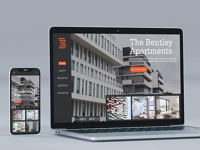 The Bentley Apartments - concept responsive web & mobile design design art elegant design simple design graphic  design typography ux ui design branding design branding