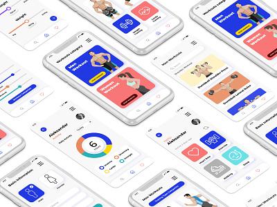 Fitness app ( UI design ) userinterfacedesign uiux uidesign userinterface typography ux ui