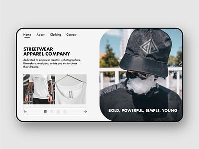 Streetwear company ( web design ) web ui ui design uidesign webdesign icon typography ux ui branding design branding