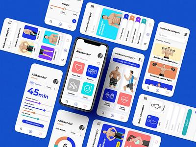 Fitness app ( UI design ) user interface design app design ui  ux uidesign graphic  design design ux simple design ui