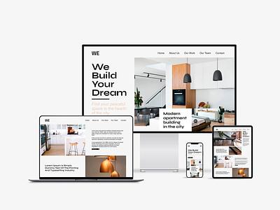 Building apartments company ( UI design ) webdesigner website ui  ux userinterfacedesign webdesign ui design uiux ui