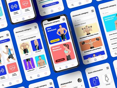 Workout app design ( UI design ) ux  ui adobexd user interface design user interface app design uxdesign uidesign uiux