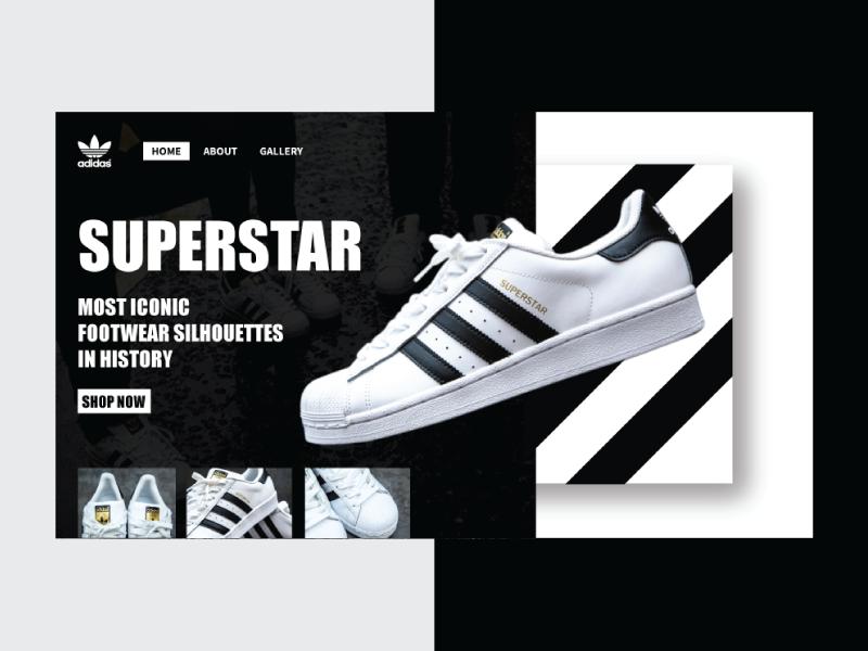 Adidas suprestar web design concept ui design art simple design simple graphic  design design branding design branding concept ui. adidas originals adidas web  design web