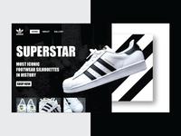 Adidas suprestar web design concept