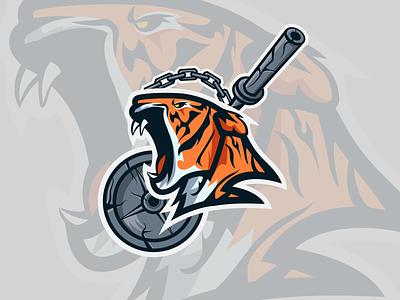 RIT Weightlifting Club Logo sports branding sports design animal tigers tiger logodesign logo sportslogo sports