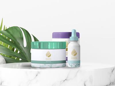 Precision Botanical CBD Packaging Design natural beauty packaging mockup logo cbd cbdoil cbdpackaging packagingdesign packaging