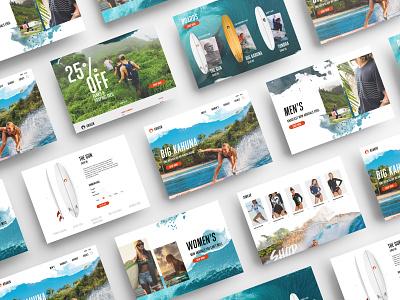 Kraken Boards Web Design graphicdesign logo logodesign webdesign ocean typography ux ui hawaii surf branding design