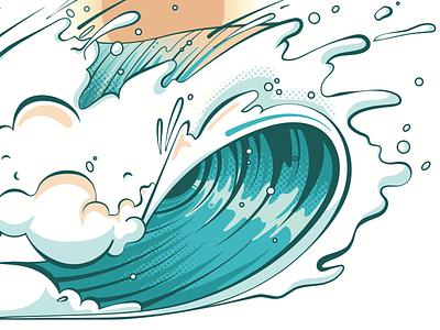 Wavez - Details summer ocean illustration grapics beach hawaii surfing surf