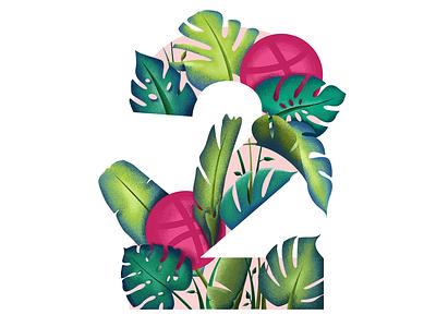2 Dribbble Invites player basketball logo basketball dribbleinvite leafs leaf tropics tropical beach design art typography branding surfing surf summer ocean illustration hawaii grapics