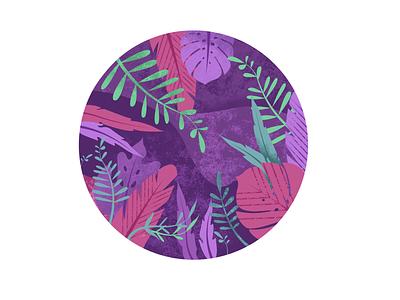The Jungle texturino texture maui banana palm leaf leaves tropical illustrator vector icon logo typography design branding summer beach ocean illustration grapics hawaii