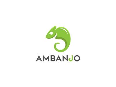 Ambanjo Logo Design illustration ux design simple design modern student project adoption adopt green animation website concept golden ratio logo golden ratio lizard uxuidesign ux branding vector ui logo chameleon
