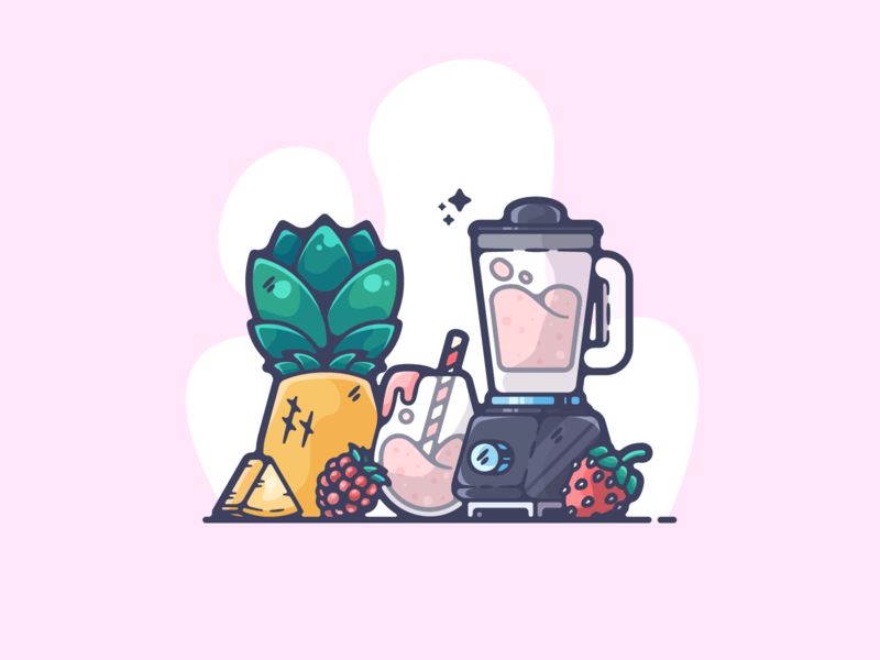 Smoothie portfolio flat health smoothie dribbble designer creative cartoon modern color graphic design graphic illustration shot illustrator simple clean art adobe