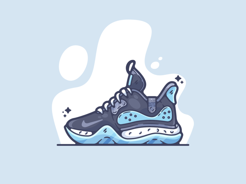 KD Trey 5 VII portfolio flat sports basketball dribbble designer creative cartoon modern color graphic design graphic illustration shot illustrator simple clean art adobe