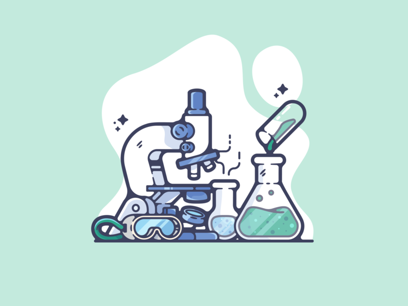 Chemistry Lab portfolio flat chemistry science dribbble designer creative cartoon modern color graphic design graphic illustration shot illustrator simple clean art adobe