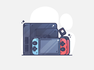 Nintendo Switch minimal portfolio flat retro walkman dribbble designer creative cartoon modern color graphic design graphic illustration shot illustrator simple clean art adobe