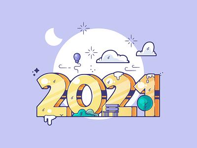 2021 portfolio flat new year 2021 dribbble designer creative cartoon modern color graphic design graphic illustration shot illustrator simple clean art adobe