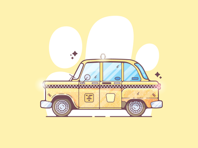 Taxi car taxi portfolio flat dribbble designer creative vector art modern color graphic design flat design illustration shot adobe illustrator minimal clean artwork adobe