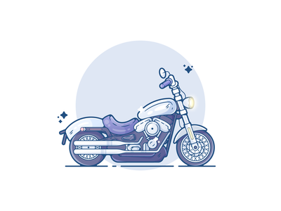 Motorcycle portfolio flat vehicle motorcycle dribbble designer creative vector art modern color graphic design flat design illustration shot adobe illustrator minimal clean artwork adobe