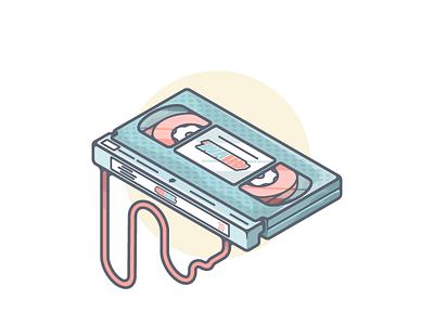VHS Tape vector illustrations movie video skateboarding design artwork illustration graphic vhs retro
