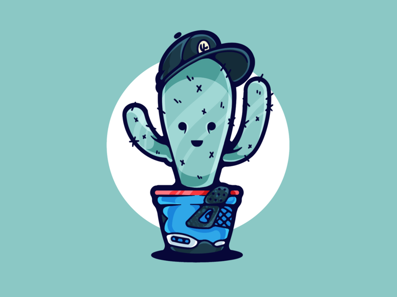 Cactus Jack green portfolio flat design procreate dribbble designer creative color character graphic design graphic illustration shot minimal simple clean art adobe illustrator adobe