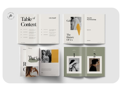 AOLIDIA Outfit Editorial Lookbook lookbook outfit layout minimalist minimal clean professional modern catalogue catalog magazine template printable print indesign adobe usletter a4
