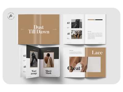 BLACKISH Outfit Editorial Lookbook lookbook outfit layout minimalist minimal clean professional modern catalogue catalog magazine template printable print indesign adobe usletter