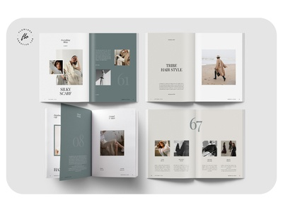 FAVOGREEN Fashion Lookbook layout minimalist minimal clean professional modern catalogue catalog magazine template printable print indesign adobe usletter