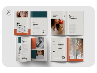 AIDENE Travel Guide Magazine guide travel layout minimalist minimal clean professional modern catalogue catalog magazine template printable print indesign adobe usletter a4